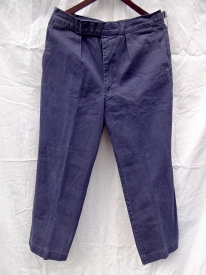 70 〜80's  Vintage Used Royal Navy Trousers Working Dress Blue/11