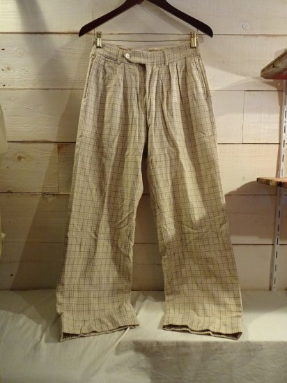 50's Vintage Wool Flannel Trousers