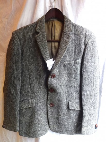 70's〜 Vintage Burberry's x Harris Tweed Jacket /12