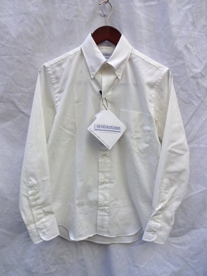 ILLMINATE 別注 INDIVIDUALIZED SHIRTS Pin-Oxford 6 Button <BR>MADE IN U.S.A <BR>Natural