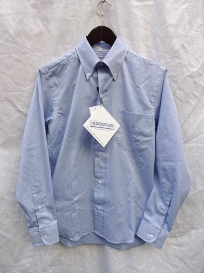 ILLMINATE 別注 INDIVIDUALIZED SHIRTS Pin-Oxford 6 Button <BR>MADE IN U.S.A <BR>Sax