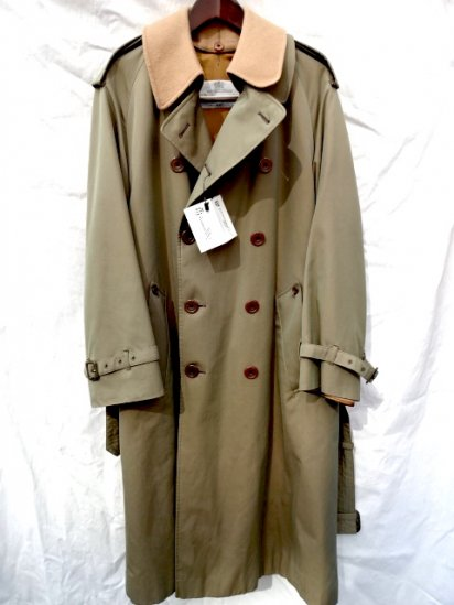 Vintage Aquascutum All Cotton & 1 Panel Sleeve Trench Coat With Lining MADE IN ENGLAND