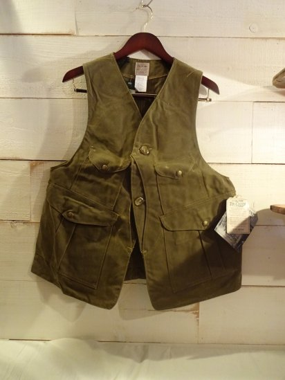 00's Dead Stock FILSON Oiled Hunting Vest Made in U.S.A