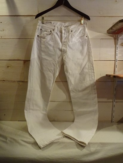 90's OLD Levi's 501 Made in U.S.A White / 1