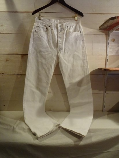 90's OLD Levi's 501 Made in U.S.A White / 2