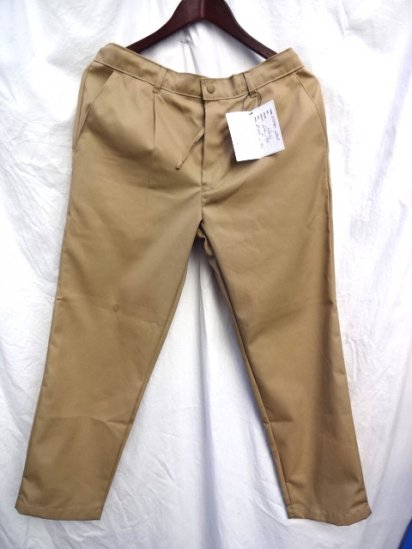Uniform World Made in ENGLAND Pleasted Front Work Pants Beige