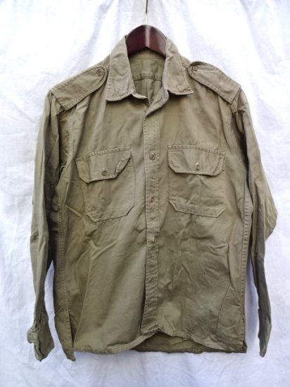 1960's Vintage GREECE Army Chino Shirts/1