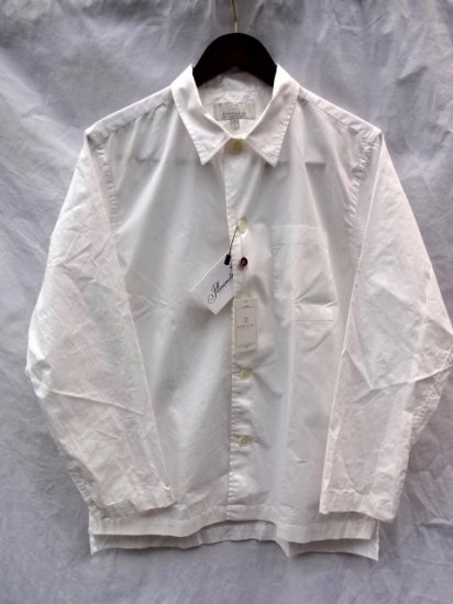 FIDUCCIA Hand Crafted in U.S.A Cotton Popolin Shirts Jacket White