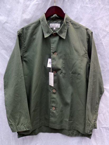 FIDUCCIA Hand Crafted in U.S.A Cotton Popolin Shirts Jacket Olive