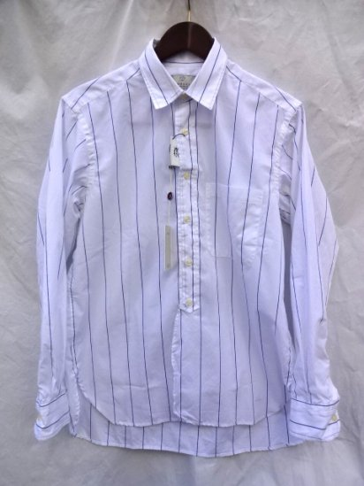 FIDUCCIA Hand Crafted in U.S.A Cotton Popolin Shirts Stripe