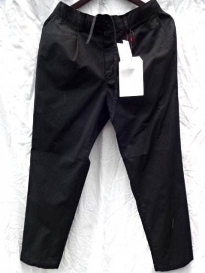 Vincent et Mireille Cotton Poplin 1 Tuck Pants /Black