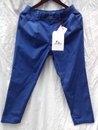 Vincent et Mireille Cotton Poplin 1 Tuck Pants /Blue<BR>SALE!! 12,000→ 8,400 + Tax