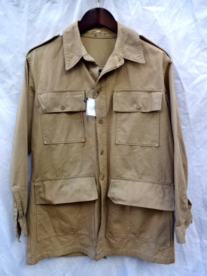 40's〜 Vintage British Army Safari Jacket MADE IN U.S.A?/1