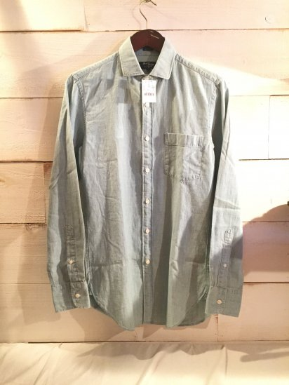 J.Crew Thompson Shirtings Chambray Spred Collar Shirts<BR>SALE!! 7,800 + Tax → 3,900 + Tax
