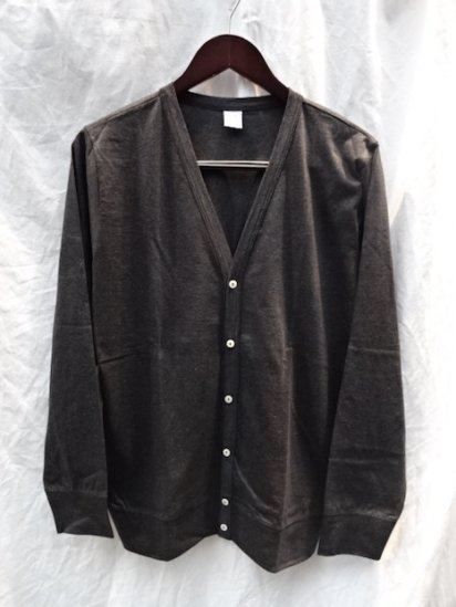 Gicipi Cotton Jersey Cardigan Made in Italy Carbon (Charcoal)