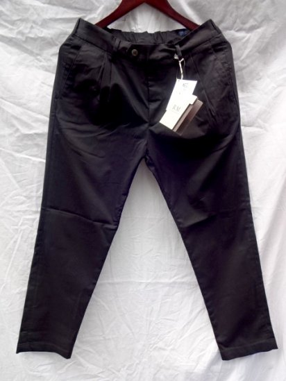 RICCARDO METHA Shearling  2 Tuck Tapered Trousers Made in Italy Black