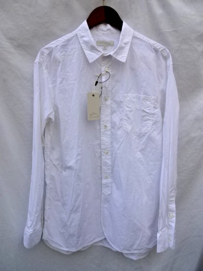 KESTIN HARE Cotton  Poplin LIVERPOOL WORK SHIRT Made in JAPAN White<BR>SALE! 16,000→11,200 + Tax