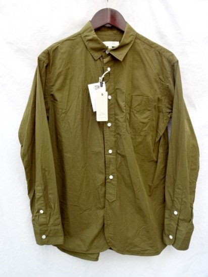 KESTIN HARE Cotton  Poplin LIVERPOOL WORK SHIRT Made in JAPAN Olive<BR>SALE! 16,000→11,200 + Tax