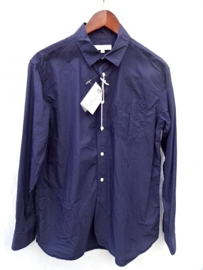 KESTIN HARE Cotton  Poplin LIVERPOOL WORK SHIRT Made in JAPAN Navy<BR>SALE! 16,000→11,200 + Tax
