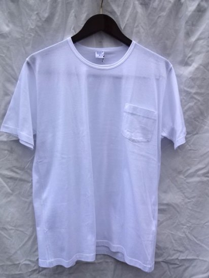 Gicipi Cotton Jersey Pocket Tee MADE IN ITALY <BR> White