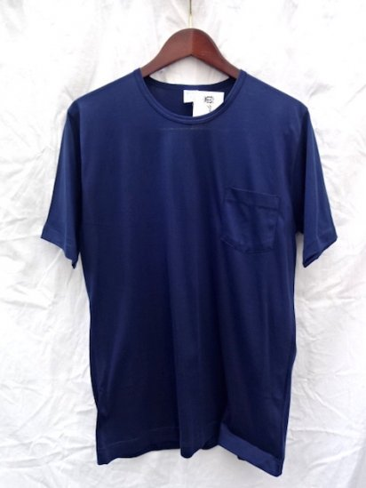 Gicipi Cotton Jersey Pocket Tee MADE IN ITALY <BR> Navy