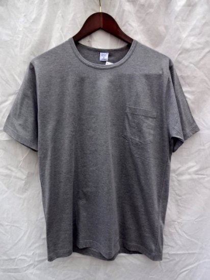 Gicipi Cotton Jersey Pocket Tee MADE IN ITALY <BR> Gray