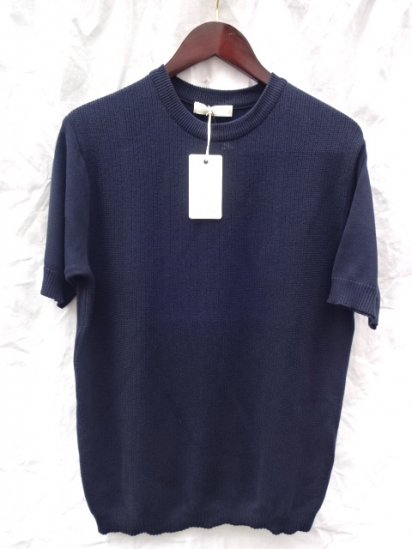 KESTIN HARE Southampton Tee Made in JAPAN <BR> Navy