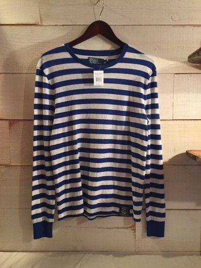 Ralph Lauren Marin Border L/T<BR>SALE!! 5,800 + Tax → 3,480 + Tax