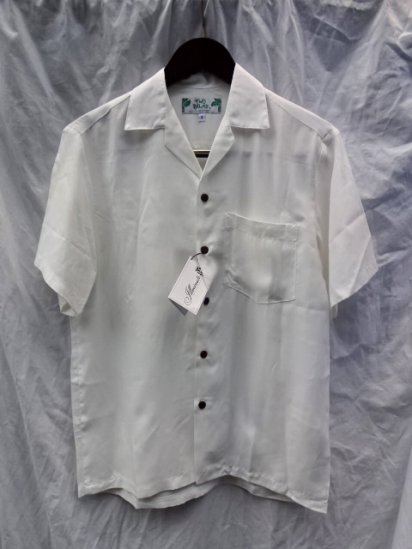 TWO PALMS Aloha Shirts Made in Hawaii  <BR>  White