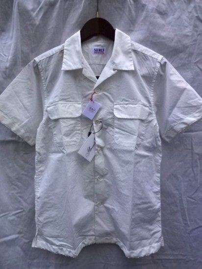SERO Cotton Broad Open Collar S/S Shirts MADE IN JAPAN White<BR>SALE!! 11,000→ 7,700 + Tax