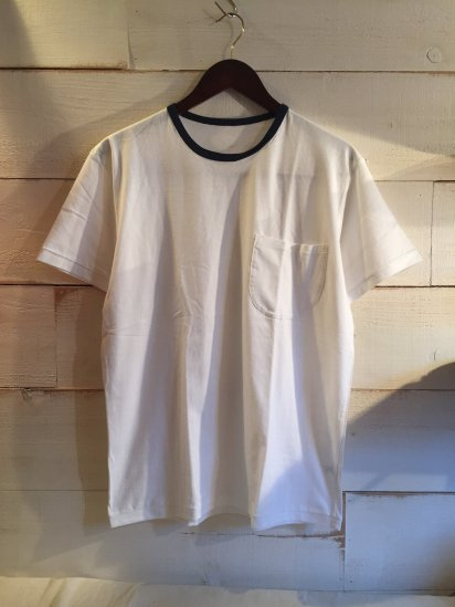 Made in Britain Binder Crew Neck Ringer Tee with Pocket<BR>SALE! 4,800 + Tax → 2,880 + Tax