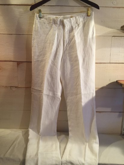 Ralph Lauren Linen Trousers Made in Italy<BR>SALE!! 19,800 + Tax → 10,800 + Tax