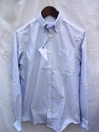 TRIPLE STITCHED OXFORD B.D SHIRTS MADE IN ENGLAND Blue × White