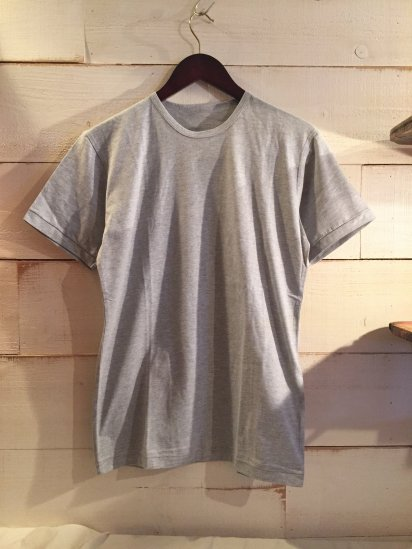 Made in Britain Binder Crew Neck Tee Gray<BR>SALE! 4,500 + Tax → 2,700 + Tax