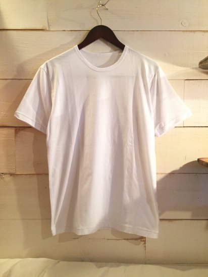 Made in Britain Binder Crew Neck Tee White<BR>SALE! 4,500 + Tax → 2,250 + Tax