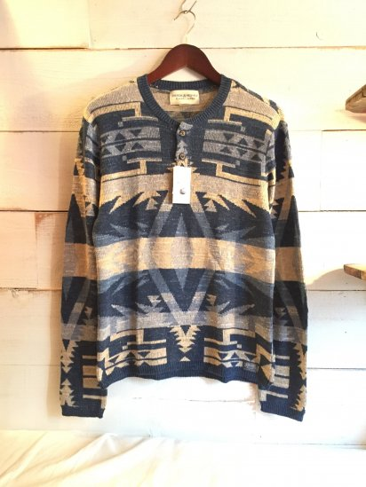 DENIM & SUPPLY by Ralph Luren Cotton Knit Henley Neck Sweater<BR>SALE!! 12,800 + Tax → 7,680 + Tax