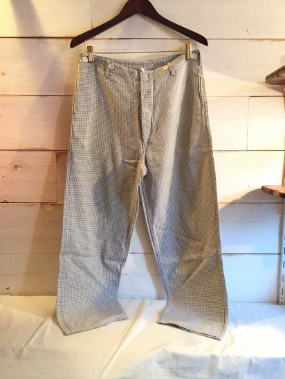 60-70's Vintage German Chef Trousers / 1