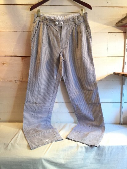 70-80's Vintage French Chef Trousers / 4