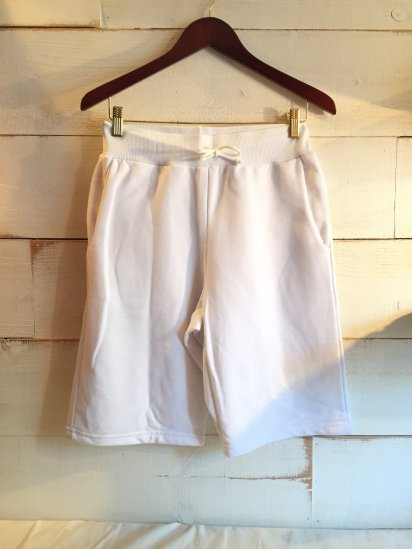Made in Britain (Engaland/UK) Sweat Shorts White<BR>SALE! 5,800 + Tax → 3,480 + Tax