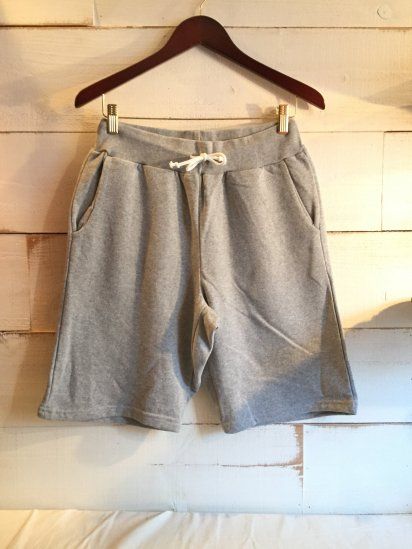 Made in Britain (Engaland/UK) Sweat Shorts Grey<BR>SALE! 5,800 + Tax → 3,480 + Tax
