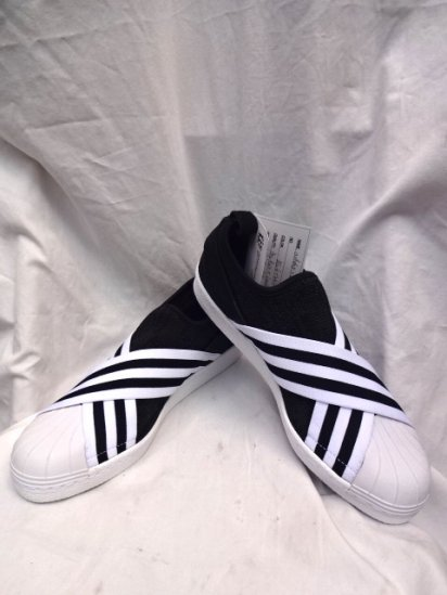 adidas Originals by White Mountaineering SUPERSTAR SLIP ON Black × White