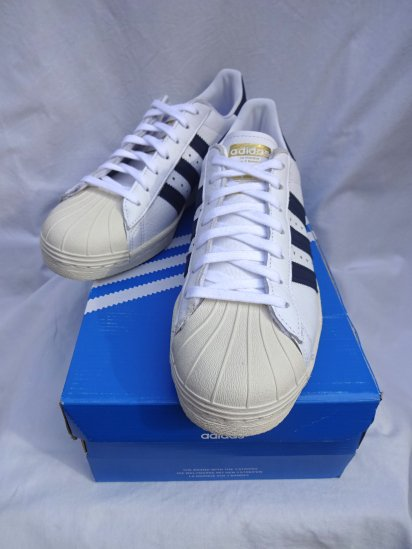 adidas SUPERSTAR 80's White x Navy
