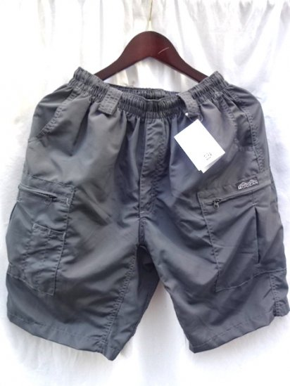 MOCEAN Long Pursuit Shorts Made in U.S.A <BR>Charcoal