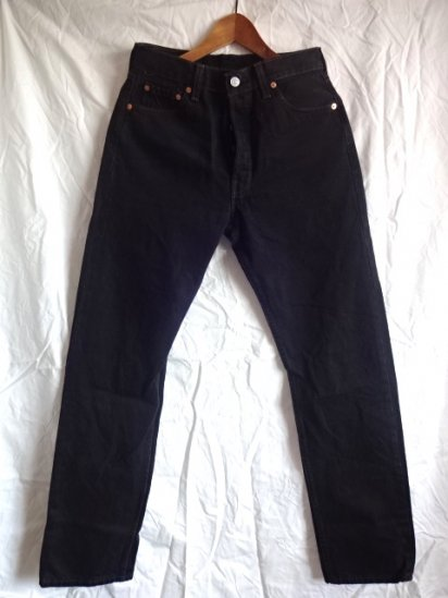 90's Old Levi's 501 Black Made in U.S.A / 8