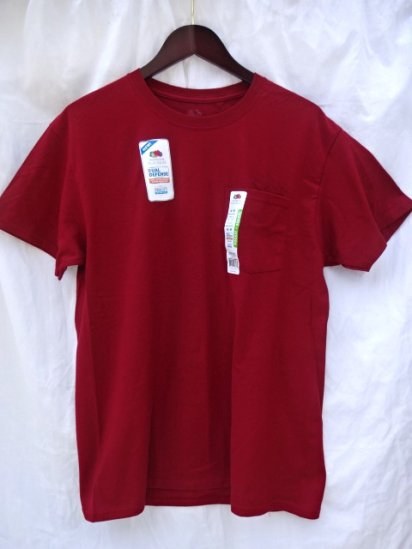 Fruit of the Loom Pocket Tee Red