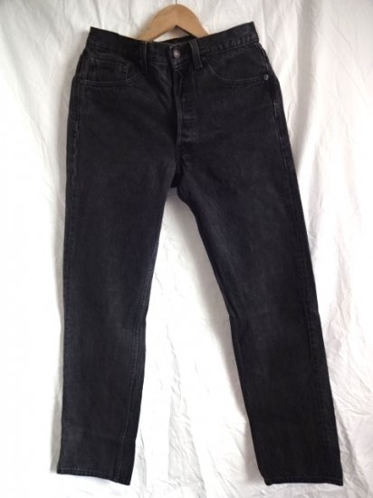 90's Old Levi's 501 Black Made in U.S.A / 12