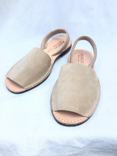 Avarcas Suede Leather Sandal MADE IN SPAIN Beige<BR>SALE!! 7,400→ 5,180 + Tax