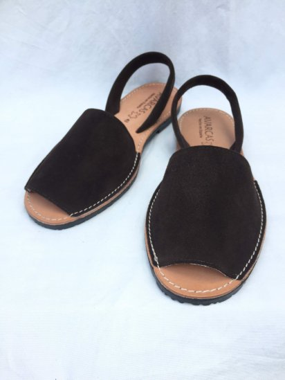 Avarcas Suede Leather Sandal MADE IN SPAIN Brown<BR>SALE!! 7,400→ 5,180 + Tax