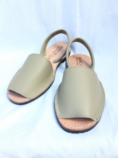 Avarcas Smooth Leather Sandal MADE IN SPAIN Beige<BR>SALE!! 7,400→ 5,180 + Tax