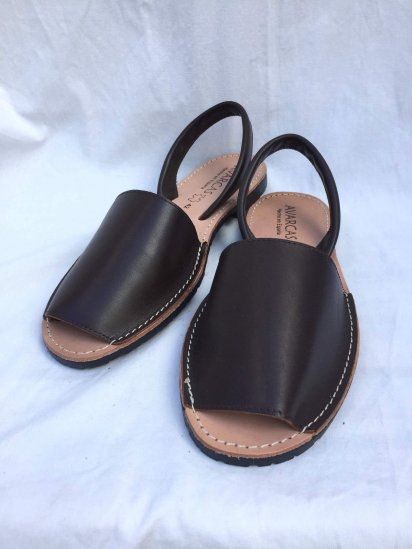 Avarcas Smooth Leather Sandal MADE IN SPAIN Brown<BR>SALE!! 7,400→ 5,180 + Tax